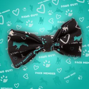 Team Spirit Dog Collar Bow